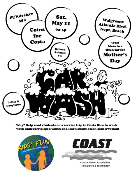 COAST FUN Trip Car Wash Flyer