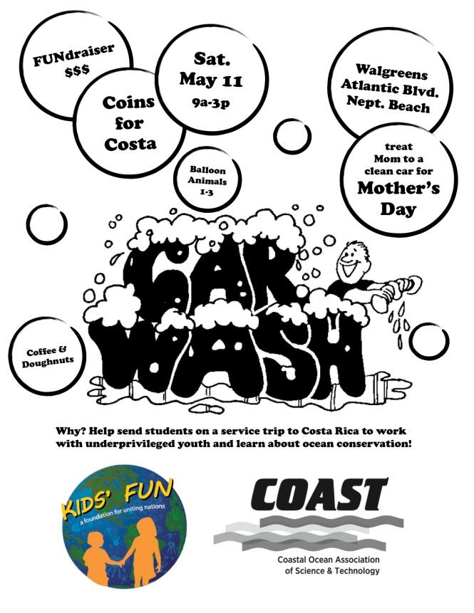 COAST FUN Trip Car Wash Flyer