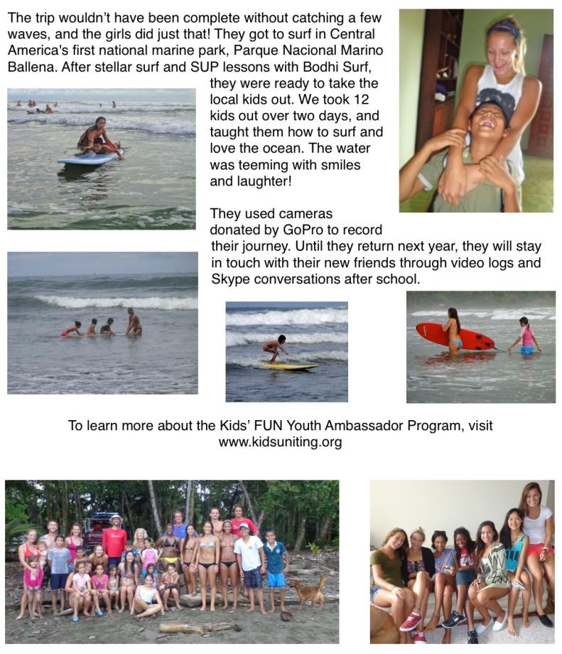 Kids' FUN Youth Ambassador Newspaper Article p2